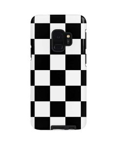 Black and White Checkered Galaxy S9 Pro Case
