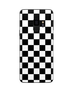 Black and White Checkered Galaxy S9 Skin