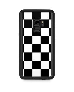 Black and White Checkered Galaxy S9 Waterproof Case