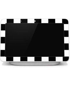 Black and White Checkered Google Home Hub Skin