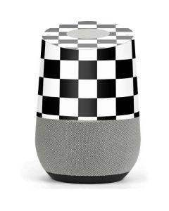 Black and White Checkered Google Home Skin