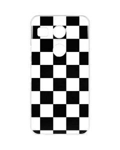 Black and White Checkered Google Nexus 5X Clear Case