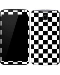 Black and White Checkered Google Nexus 6 Skin