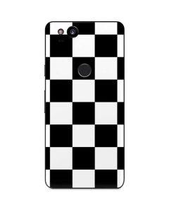 Black and White Checkered Google Pixel 2 Skin