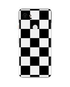 Black and White Checkered Google Pixel 2 XL Skin
