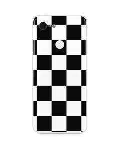 Black and White Checkered Google Pixel 3 Skin