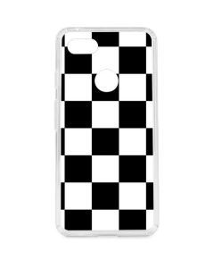 Black and White Checkered Google Pixel 3 XL Clear Case