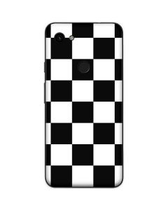 Black and White Checkered Google Pixel 3a Skin