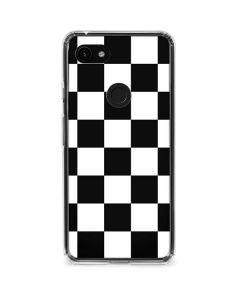 Black and White Checkered Google Pixel 3a XL Clear Case