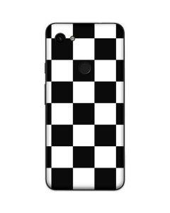 Black and White Checkered Google Pixel 3a XL Skin
