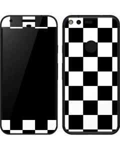 Black and White Checkered Google Pixel XL Skin