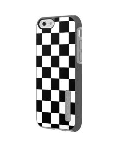 Black and White Checkered Incipio DualPro Shine iPhone 6 Skin
