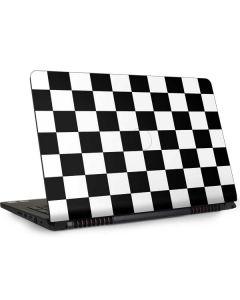 Black and White Checkered Dell Inspiron Skin