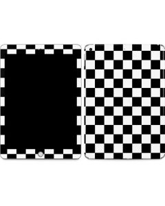 Black and White Checkered Apple iPad Skin