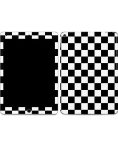 Black and White Checkered Apple iPad Air Skin