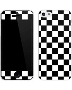 Black and White Checkered iPhone 5c Skin