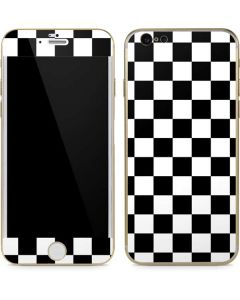 Black and White Checkered iPhone 6/6s Skin