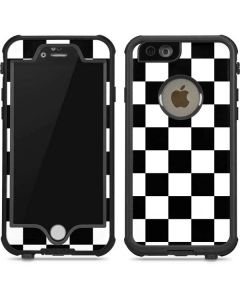 Black and White Checkered iPhone 6/6s Waterproof Case