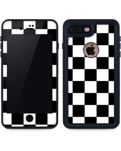 Black and White Checkered iPhone 7 Plus Waterproof Case