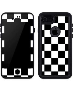 Black and White Checkered iPhone 7 Waterproof Case