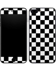 Black and White Checkered iPhone 8 Plus Skin