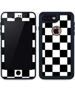 Black and White Checkered iPhone 8 Plus Waterproof Case