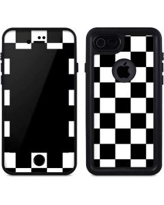 Black and White Checkered iPhone 8 Waterproof Case