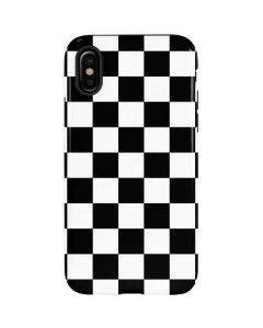 Black and White Checkered iPhone X Pro Case