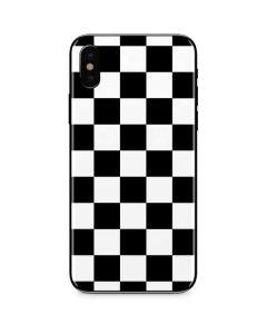 Black and White Checkered iPhone X Skin