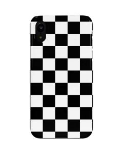 Black and White Checkered iPhone XR Lite Case