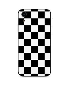 Black and White Checkered iPhone XR Skin