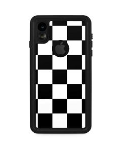 Black and White Checkered iPhone XR Waterproof Case