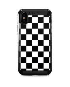 Black and White Checkered iPhone XS Cargo Case