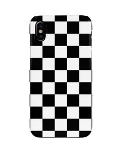Black and White Checkered iPhone XS Lite Case