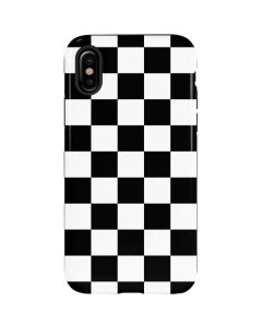 Black and White Checkered iPhone XS Max Pro Case