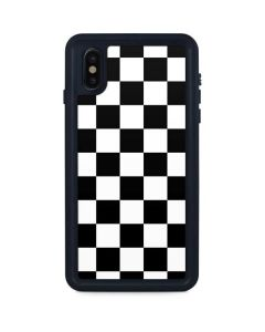 Black and White Checkered iPhone XS Max Waterproof Case