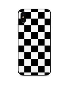 Black and White Checkered iPhone XS Skin