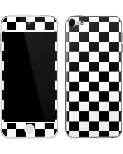 Black and White Checkered Apple iPod Skin