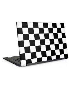 Black and White Checkered Dell Latitude Skin