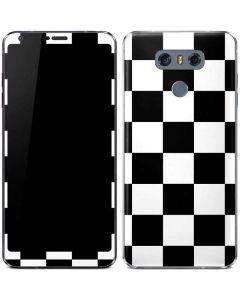 Black and White Checkered LG G6 Skin