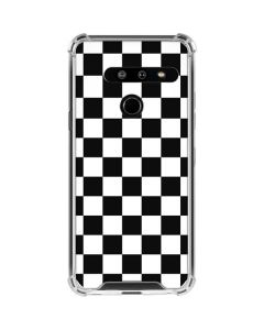 Black and White Checkered LG G8 ThinQ Clear Case