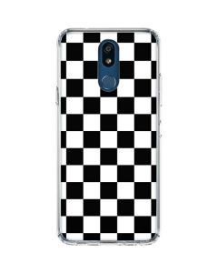 Black and White Checkered LG K30 Clear Case