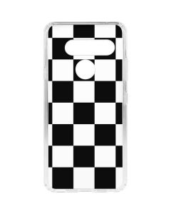 Black and White Checkered LG V40 ThinQ Clear Case
