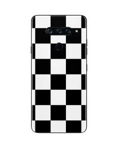 Black and White Checkered LG V40 ThinQ Skin