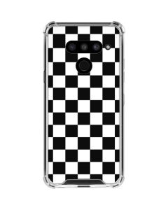Black and White Checkered LG V50 ThinQ Clear Case