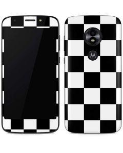 Black and White Checkered Moto E5 Play Skin