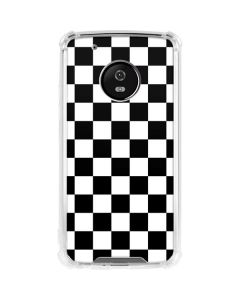 Black and White Checkered Moto G5 Plus Clear Case