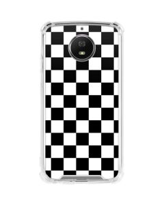 Black and White Checkered Moto G5S Plus Clear Case