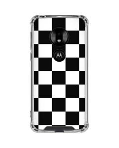 Black and White Checkered Moto G7 Play Clear Case