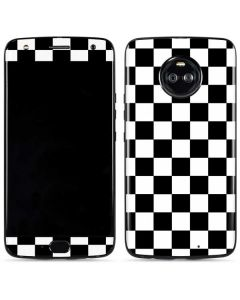 Black and White Checkered Moto X4 Skin